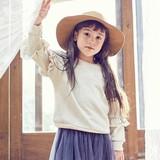 【2016秋新作】【ガール/キッズ】ゴールドフリルトレーナー☆