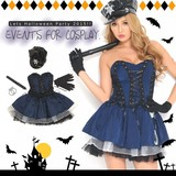 【即納】Let'sハロウィンパーティー!!ポリス風ワンピース*ハロウィン コスプレ 衣装