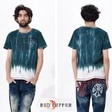 【人気商品】(メンズ)段染めロゴ入りポケットTシャツ<大きいサイズ>