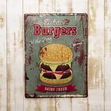 【ギフトショー秋2016】アンティークエンボスプレート[Burgers]
