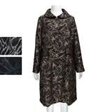 ◆特価品◆2016秋冬新作◆『ミセス』花柄ジャガドボリュームコート(M16250)