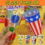 グラスタンブラー /コップ/プリント付き/柄の種類が6種あるグラスです!