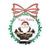 メタル ファットサンタ ブローチ <クリスマス>