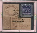 特価品【リトルツインスターズ】木製スタンプ
