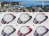 Use GENEVA Unisex Wrist Watch Nylon Belt Ribbon Color 5 Pcs Line
