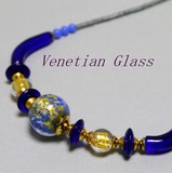 Italy Genuine Glass Handmade Necklace Italia Venetian Glass