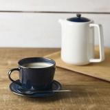 北欧ブルー 深ブルー コーヒーカップ&ソーサー[日本製/美濃焼/洋食器]