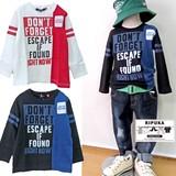 <売れ筋商品>【2016AW新作】【RIPUKA】ロゴブロックレイヤーTシャツ