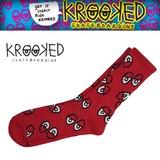 KROOKED Red Eyes Socks  14937