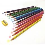 グルーヴスリム12色セット(シャープナー付き)【色鉛筆】