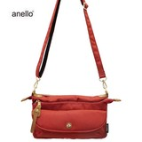 anello Canvas Gold Metal Fittings Shoulder Bag