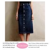 【2016AW新作】フロントボタンデザイン デニムスカート