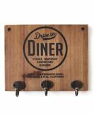 【DINERシリーズのハンガーフックボード!】WOOD KEY HOOK BOARD (Circle)