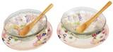 ■美濃焼特価品■花づくしガラスペアデザート