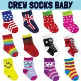 【ベビー】クルーソックス /男女兼用/10-15cm/ポップ/丈のある赤ちゃん用靴下です♪