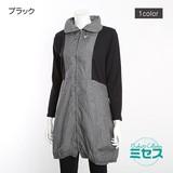 【SALE】【ミセス】【M〜L】チェック リブ バルーン ハーフジャケット コート t601691