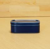 <白山陶器> バターケース ブルー