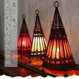 まるで魔法のよう…光と影が創る幻想的な異空間【ウィッチハットランプ】アジアン雑貨