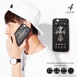 Excellent カジュアル メンズ おしゃれスマホグッズ iphone6用スタッズスマホケース 621167