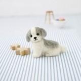 シーズー【フェルト羊毛】【ハンドメイド】【動物羊毛】【犬】