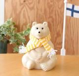 ◎数量限定◎ 2016年マフラー付き 白くま貯金箱【Finland 】