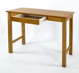 【セール商品】木製 アッシュ突板デスク 引出付き:スクエアー:NA色