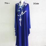 【新作★カラオケ衣装】蝶スパンコール刺繍キモノ袖ドレス