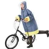 【ギフトショー秋2016】自転車用レインコート(大人用 ネイビーボーダー)