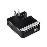 USB充電タップ型ACアダプタ iPad・iPhone・iPod用 2.1A 電源1個口 USB1ポート ブラック