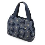 【SAVOY(サボイ)】デニム地に花柄を合わせたハンドバッグ