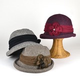 ★AWバーゲン50%off~セール ウールフラワーフクレツバセーラー レディース帽子