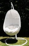 【ハンギングチェアー】【ラタン家具】 ハンギングチェア 楕円型 真っ白(直送可能)