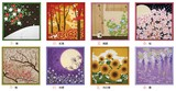 Flower Scenery Wrapping Cloth