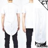 【予約販売】(9月上旬納品)【OPEN特価】イレギュラーヘム半袖ロングTシャツ <大きいサイズ>