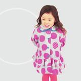 【2016春夏新作】【Fabhug】ドット★フリルレインコート