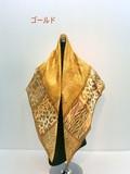 2016秋冬新作)スカーフ シルクサテンストライプ生地アニマル柄日本製四角スカーフ