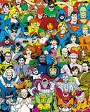 輸入ミニポスター 400x500mm*DC Comics Retro Cast