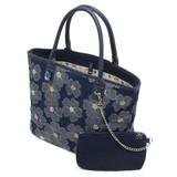 【SAVOY(サボイ)】デニム地に花柄を合わせたトートバッグ