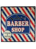 ウッドボード(BARBER SHOP)【28621】