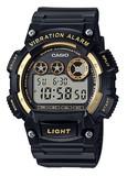 【特価】カシオ 海外モデル   振動式アラーム付きデジタルウォッチ W-735H-1A2