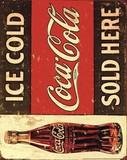 輸入ミニポスター 400x500mm*Coca-Cola-ice cold sold here