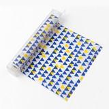 〜「オモテナシ」を伝える、ちょっとしたひと工夫〜Ch ラップ グラシン 三角形柄 黄色・青