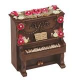 【 アップライトピアノ型ミニオルゴール (ブラウン) 】