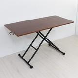 リフティングテーブル 昇降式テーブル 完成品 天然木 突板 ウォールナット