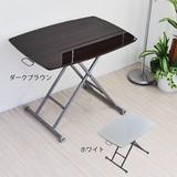 リフティングテーブル 昇降式テーブル 90cm幅 木製 完成品 鏡面