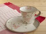 【土物の器】つる花コーヒー碗皿/単品/MADE IN JAPAN