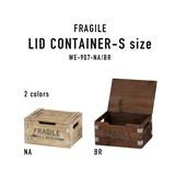 ヴィンテージ木箱をアレンジしたイメージの木製品シリーズ【フラジール・リッドコンテナ・S】