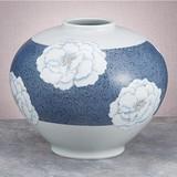 【九谷焼】8.5号花瓶 釉描彩牡丹
