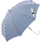 【雨傘】【UV】長傘 スイーツストライプスリム