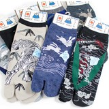 【粋な男の靴下】紳士 綿混 日本柄デザイン 足袋ショート丈ソックス